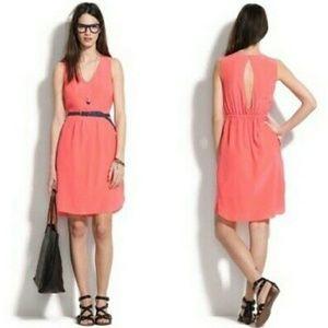 Madewell silk Alexa Chung cutout dress